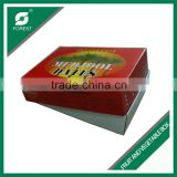 ONE TOP AND ONE BOTTOM STYLE CORRUGATED MANGO PACKING BOX FALT PACK FRUITS SHIPPING CARTONS FOR SALE