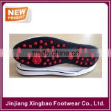 2016 Flexible & Durable Spikeless Men Size Rubber Golf Shoe Sole For Japan