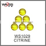 Bling Bling Citrine Loose Stones Rhinestones For Clothes