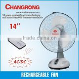 14'' Rechargeable battery operated table fan with LED light                                                                         Quality Choice