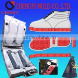 upper calfskin white/black/red leather with rubber shoe one station service shoe upper making and shoe sole mold oem factory                                                                         Quality Choice