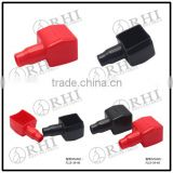 Red black pvc square top post auto car battery terminal cover vinyl battery terminal jacket