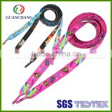 China wholesale factory price flat shoelace bracelet, custom printed shoelaces, custom shoelace tips