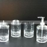 Acrylic Clear Thick Base bathroom Tumbler Set
