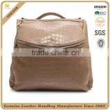 China high quality genuine leather backpack, lady leather backpack bag, custom durable crocodile ladies' handbag