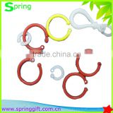 Plastic Round keyring Clasps Hook Bulb Buckle Clips Dummy Toy Hook Clips Jewelry Making Finding Backpack