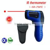 ir infrared digital temperature thermometer -50~750degree with room temperature for food or BBQ temperature measuring TL-IR750