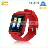 2014 New Smart Cell Phone Watch with Sim Card Slot GV08 Wristwatch Sync SMS Skype Work for Android phone
