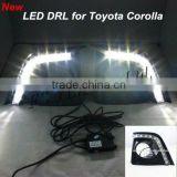 Car styling accessory for Toyota Corolla LED Daytime Running Light fog lamp cover DRL 12v white led drl fog lamp