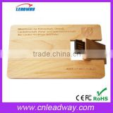 Credit Card USB Stick Multiple Wooden Pen Drive with Logo Print 1GB 2GB 4GB 8GB 16GB 32GB