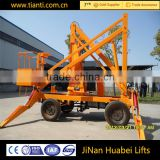 Simple operation 360 degree articulated boom lift aerial work platform mobile elevating platform for service