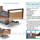 Luxury electric hospital bed with wooden head board and foot board old people home care