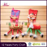 Agenda 2016 Non-woven Fabric Santa Claus Socks Decoration Animal Head Plush Christmas Stocking
