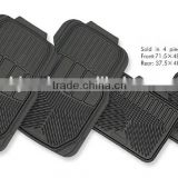 Car Truck SUV All Weather Protection Universal Fit Full Set Ridged Heavy Duty Rubber Car Mat