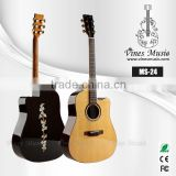 41 inch wholesale acoustic guitar solid top cutaway MS-24
