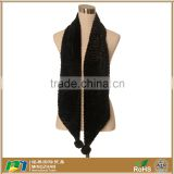 Winter Black Long Faux Fake Mink Fur Collar Shawl Scarf Wrap