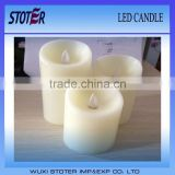 Paraffin Wax Material and moving wick LED candle with timer