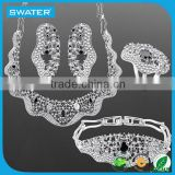 2016 Gifts Silver Jewelry American Diamond Necklace Sets