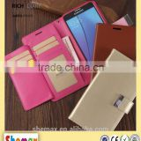 Custom android mobile phone wallet cover case for lenovo a2010