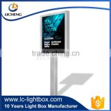 Exquisite technique led acrylic light up frame outdoor billboard from factory