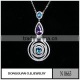 Costume jewelry Rhodium plated Large size jewelry