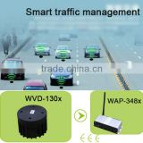 Magnetic vehicle detector sensor for smart traffic light management and vehicle counting