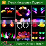 Flashing LED light for party, Christmas,and holidays,women flower hair accessory jewelry