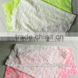 fashion fluorescent floral printed fabric and lace scarfs
