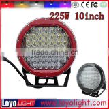 "10inch 225W led driving lights used for suv atv, round led work driving lights offroad 10"" led work light"