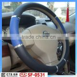 blue color PVC/PU car steering wheel covers