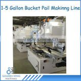 Automatic Tin Can Seamer Sealing Machine For Metal Paint Pail /Conic Pail Tin Bucket Production Line