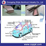 AW5754 coated aluminum strip tape for EPDM PVC ABS TPE PP rubber sealing strip