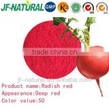Red color deep red powder from Radish