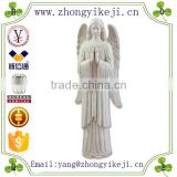 2015 chinese factory custom made handmade carved hot new products resin angel statue fiberglass