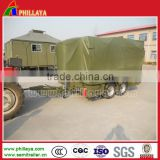 China cheap price special trailer tractor towing transportation trailer box drawbar semi trailer