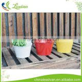 Metal sheet red white yellow custom round flower arrangements pot galvanized metal flower buckets with handle