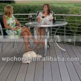 Wood plastic composite floor grey embossed wpc decking