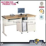 Used practical design commercial office furniture/MDF office table with side drawer