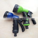 Chinese Factory High Quality 7 and 8 Patterns Expandable Garden Hose Pipe Hand Spray Nozzle Gun