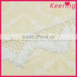 2015 New product white rayon tassel fringe trim for curtain WTPB-006