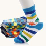 Boy Cartoon Design Kid Stripe Ankle Sock