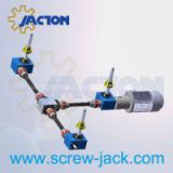 screw type lift table, linear actuator lift table, acme screw drive system