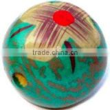 Hand painted wooden beads
