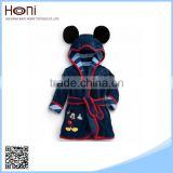 Kids Animal Bathrobe Bathrobe with Edging