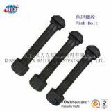 Rail fastener fish bolt, track bolt high tensile, railroad construction fastener bolt,Segment bolt