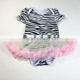 Stripe dress girl leotard skirts Single Tulle Lace Dress fairy ballet tutu dress
