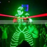 robot dance costume LED helmet led robot suit with laser gloves