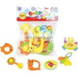 Hot Selling Baby's First Rattle and Teether Toy 6 Pieces Gift Sets