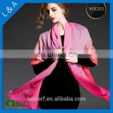 Factory supply lady scarf 100% double sided wool scarf, dubai muslim scarf