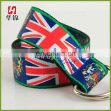 Hot Sale England Flag Design Custom Printed Belt